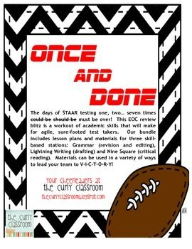 Once and Done: STAAR Blitz | | ELA • High School | | Staar test