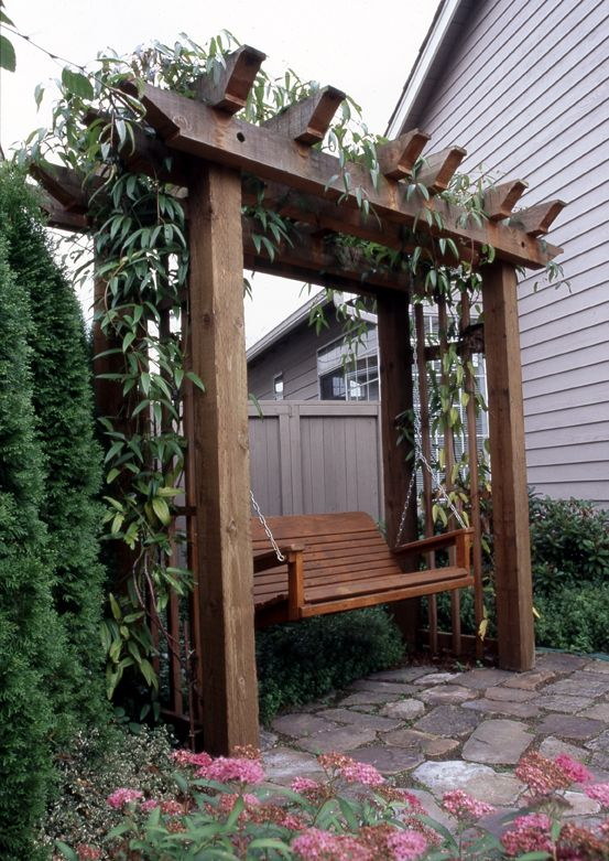arbor with swing wood projects garden garden arbor. Black Bedroom Furniture Sets. Home Design Ideas