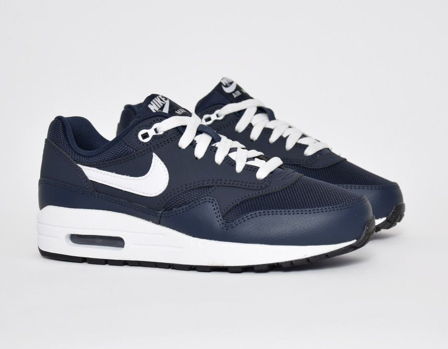 size 40 848e6 2d452 ... promo code for nike air max 1 gs midnight navy sneakers 2ba1d b750f