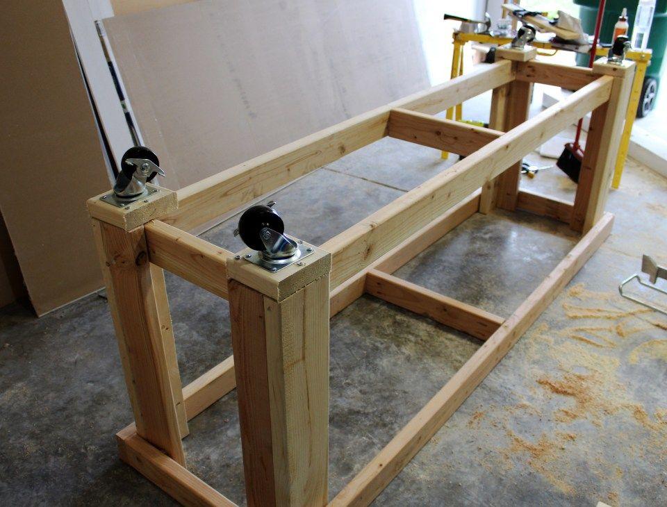 DIY Miter Saw Bench Miter saw bench, Miter saw table
