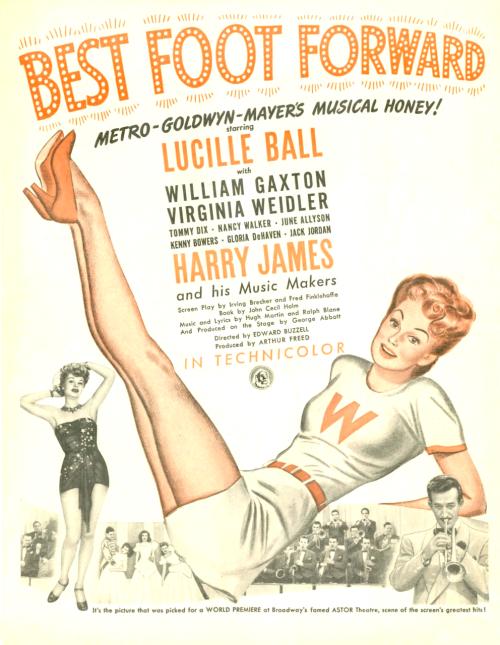 Best foot forward Harry James vintage movie poster