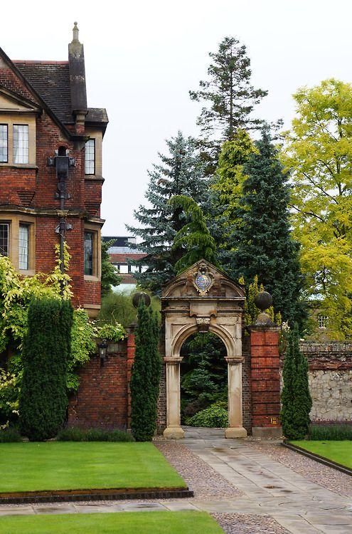 Arch Entry Pembroke College Cambridge England Little House