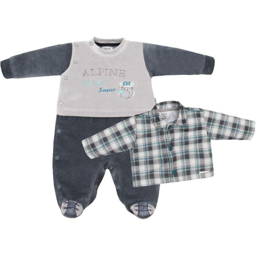 Macacão Bebê Menino 2 Peças em Plush Verde com Casaco - Sonho Mágico    764  Kids  452d5499bd0