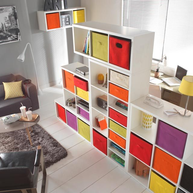 Tag re modulable 4 cases coloris blanc mixxit castorama rangement modulable et modulable - Etagere castorama rangement ...