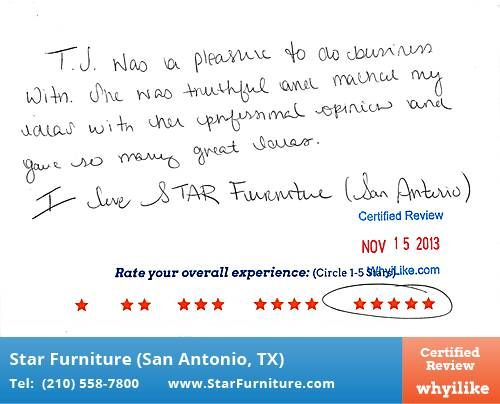 I Love Star Furniture Whyilike Customer Reviews In San Antonio