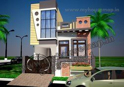 Simple House Elevation Design House Map Elevation Exterior House Design 3d House Map In India House Elevation Village House Design Simple House
