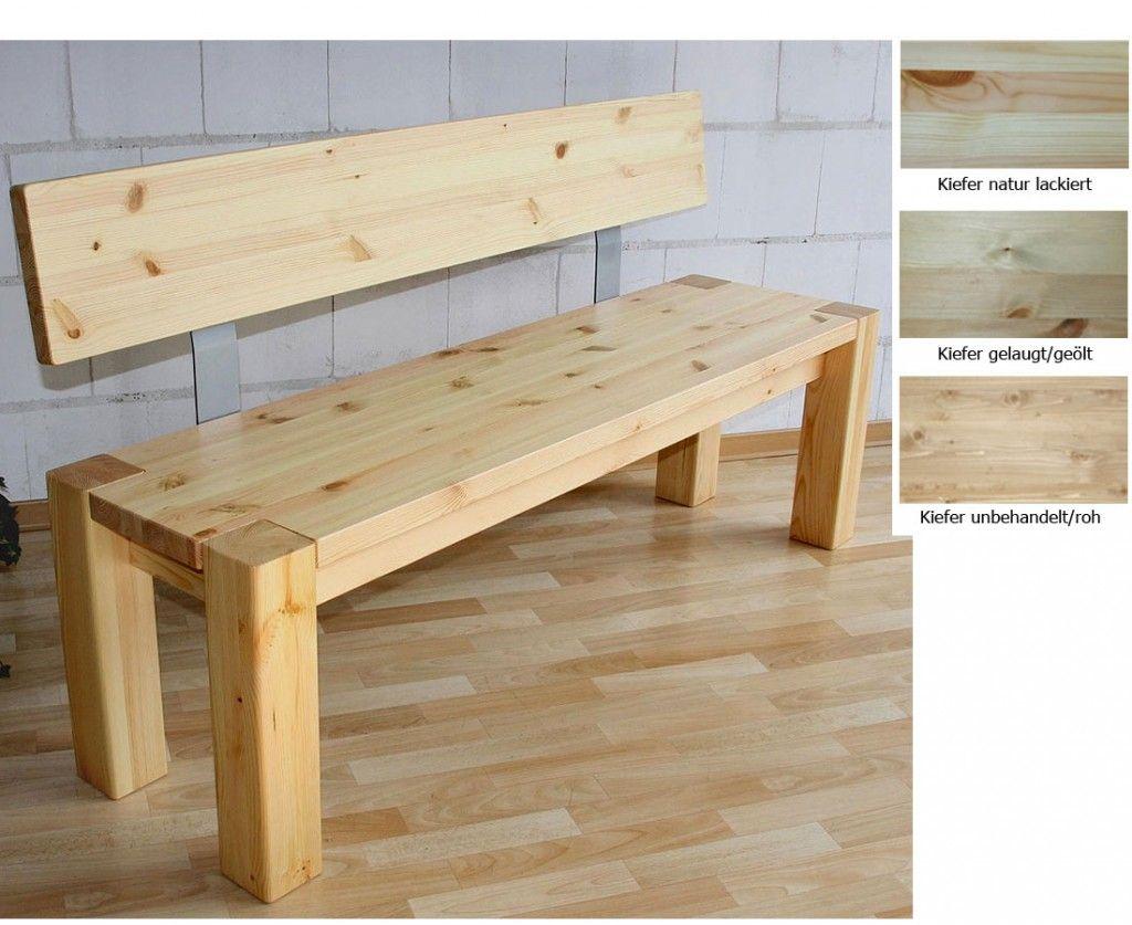 Billig sitzbank mit lehne g nstig chair bench and table for Billig wohnen