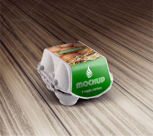 Download Digitalphaser Design Portfolio Egg Carton Egg Packaging Mockup