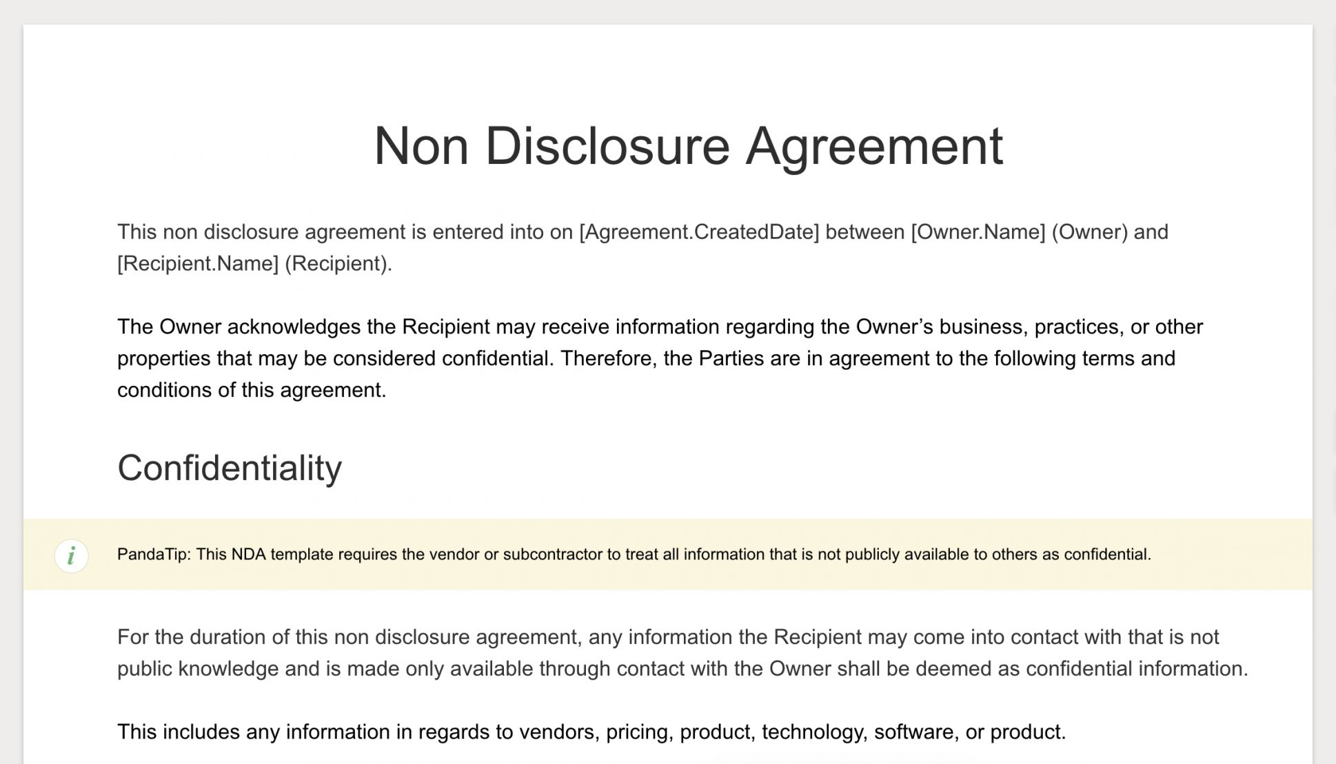 Explore Our Sample Of Non Disclosure Statement Template Non Disclosure Agreement Statement Template Business Template