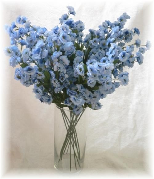 Light Blue Flowers For Weddings: Details About 12 Baby's Breath Spray LIGHT BLUE Silk