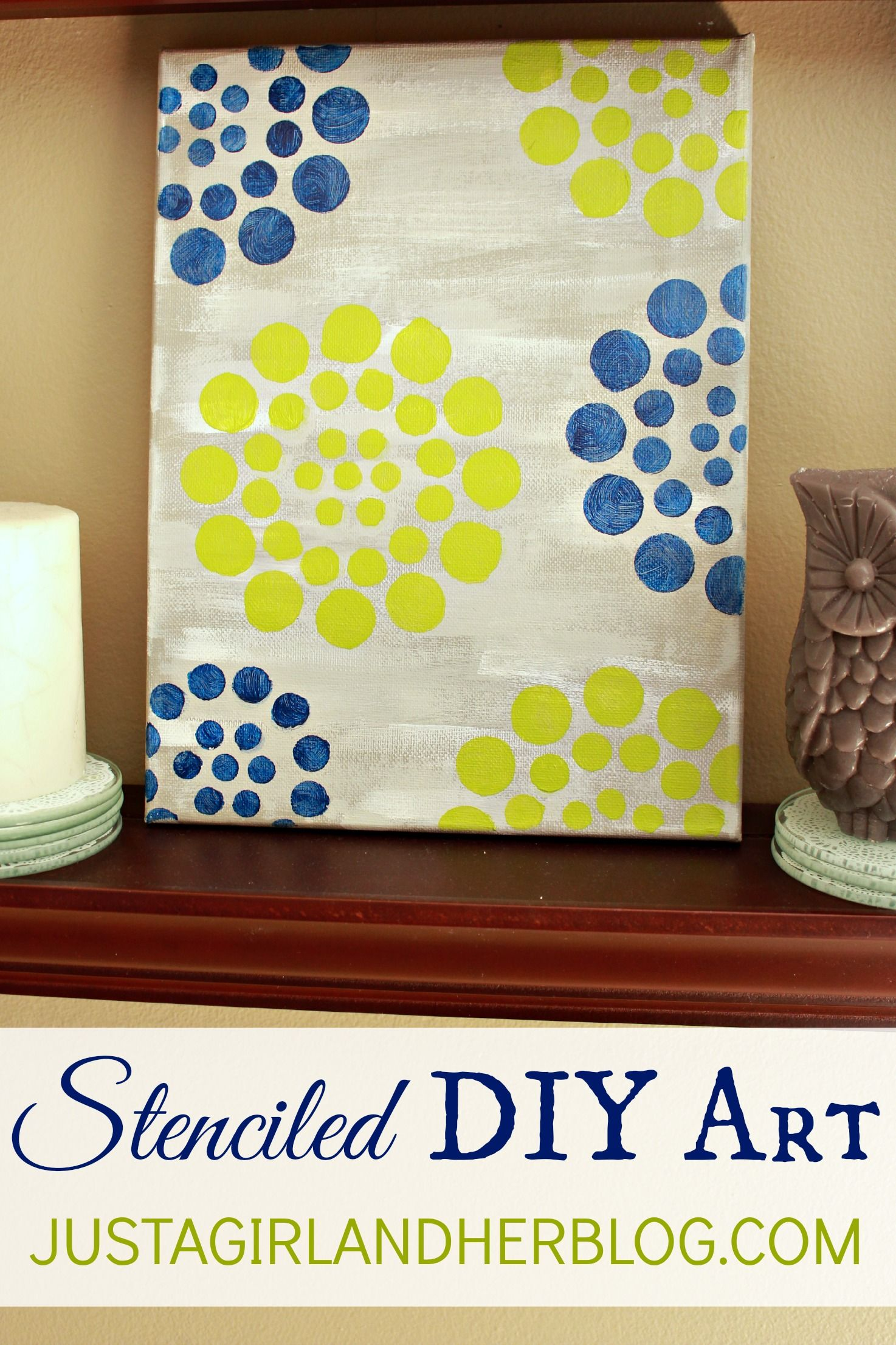 Stenciled DIY Art {with Stencil1 and FolkArt Paint | Pinterest | Diy ...