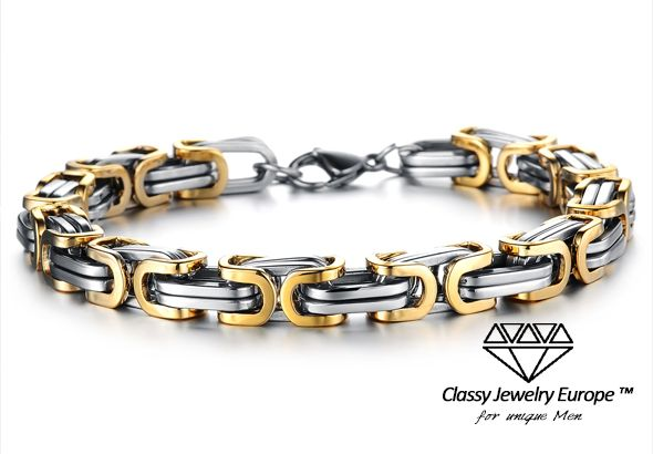Silber gold armband herren