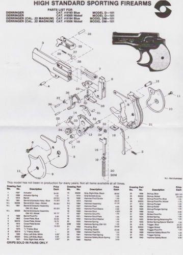 Detalhes sobre + 508 Hi Standard Derringer Modelos D-101 E