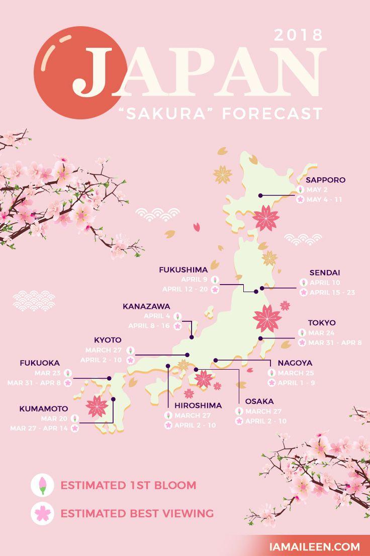 Cherry Blossom Sakura 2018 Japan Forecast When Where To Visit I Am Aileen In 2021 Japan Travel Tips Japan Japan Holidays
