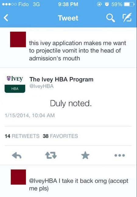 Funny Dumb Tweet College Application | Dumb Tweets, Dumb ...