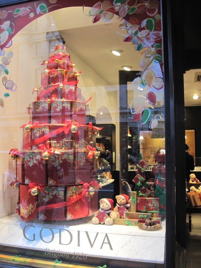 store window christmas displays | Description: dipping menu, lady ...