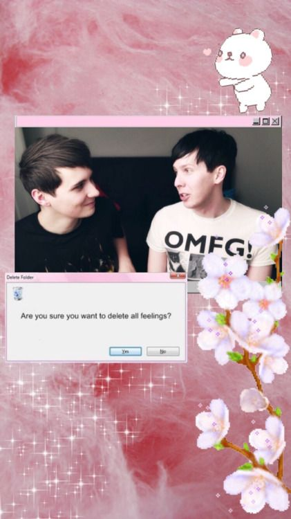 Dan And Phil Iphone Kawaii Wallpaper