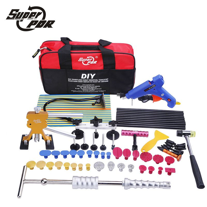 Dent Puller Kits Pops a Car Dent Removal Kit Slide Hammer /& Glue Gun for Auto