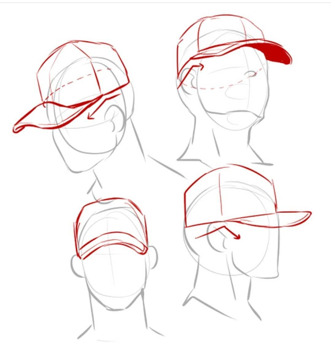 Hat ✨#howtodraw . Credit: @kimmochis #clothesdrawing