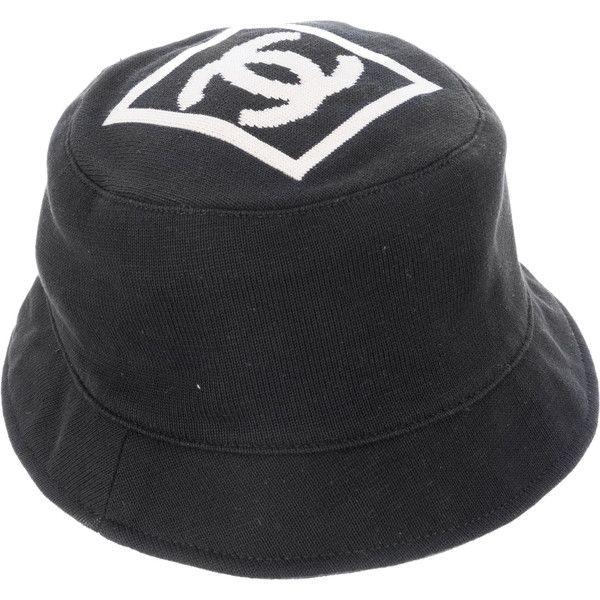 5b89f168 Pre-Owned Chanel Bucket Hat - CC Logo Black & White Cotton ($599 ...
