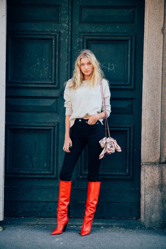 28ad9bb664f04 Red Boots: The 2018 Biggest Trend That Goes With Everything! – The Fashion  Tag Blog