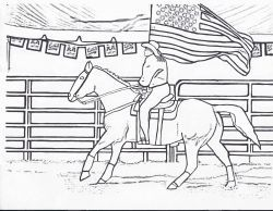 rodeo coloring pages free printables beverages pinterest