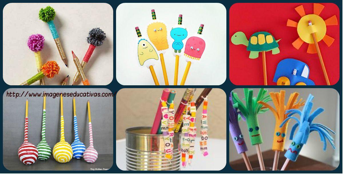 Más de 30 Nuevos Adornos para nuestros lápices favoritos DIY
