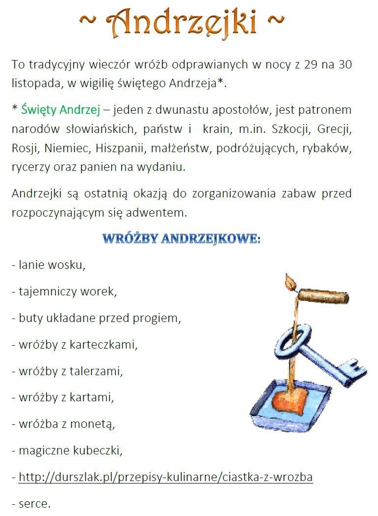 Pin By Ajka Lipowska On Andrzejki Sucess Public Holidays Holiday
