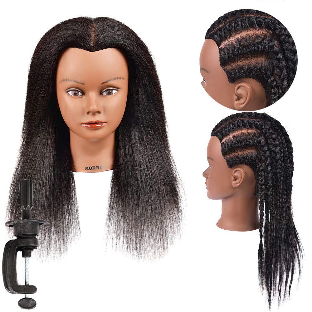 Mannequin Head Hair 100 Real Hair Training Head Cosmetology Manikin Practice Doll Head In 2020 Hair Styles Head Hair Hair Mannequin
