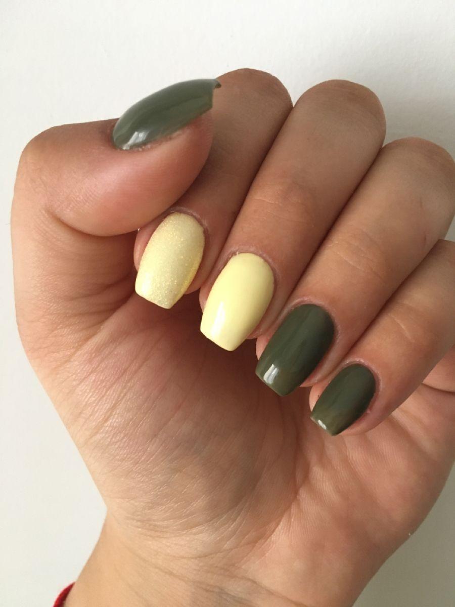 #green #yellow #naillovers #iloveit #always