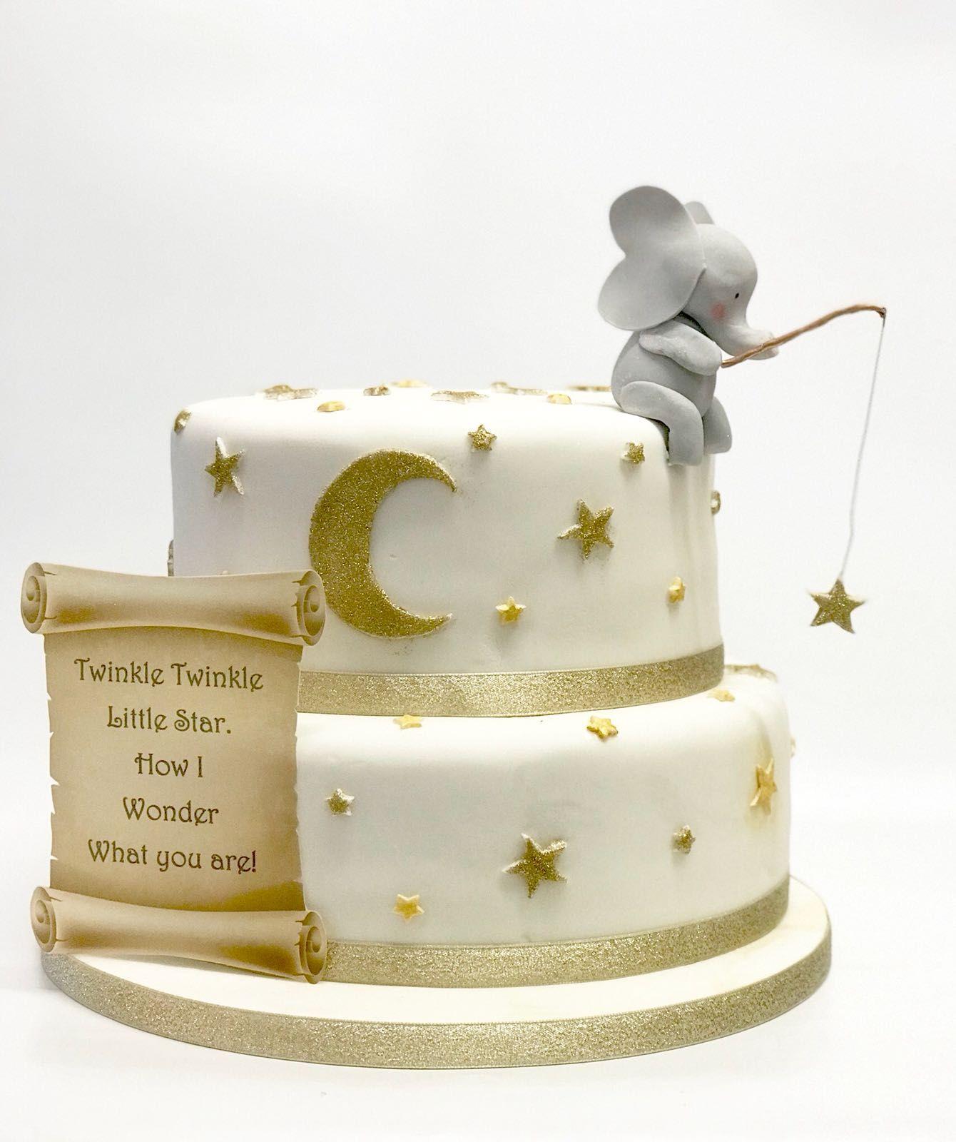 Baby Shower Cake. Twinkle Twinkle Little Star Twinkle