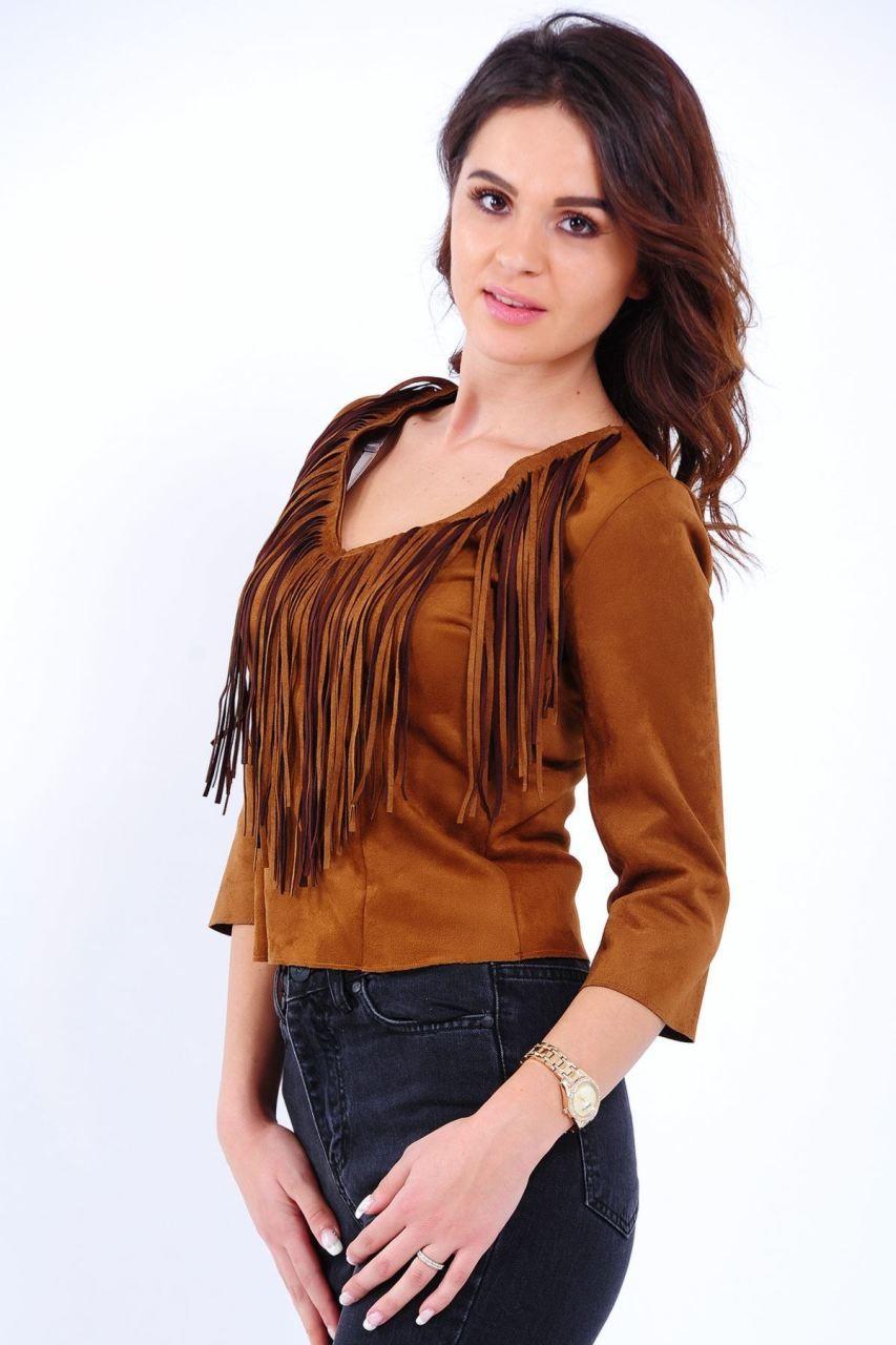 4d9e516860ac2 V Püskül Yaka Taba Bluz #giyim #indirim #kampanya #bayan #erkek #bluz  #gömlek #trençkot #hırka #etek #yelek #mont #kaşe #kaban #elbise #abiye  #büyükbeden ...