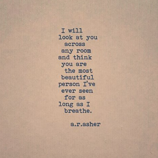 10 Times Instagram Poet A.R. Asher PERFECTLY Described How Love Should Feel Bringing beautiful words to a beautiful feeling.