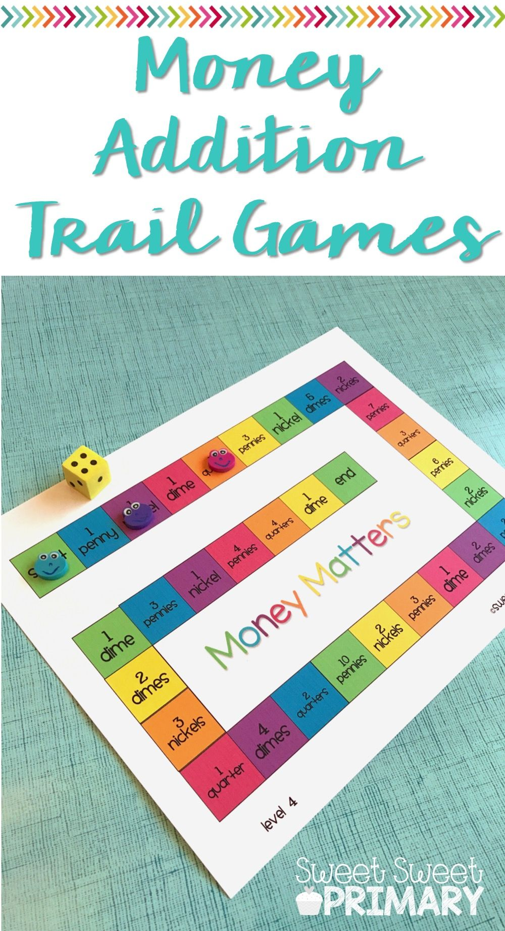 This FREE money trail game is a great hands on math center for ...