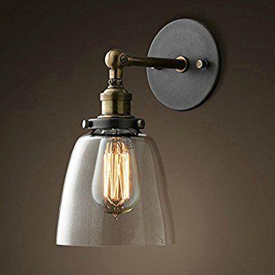 E27 Vintage Retro Swing Arm Wall-Mount Lamp Iron Sconce Fixture Handmade Light