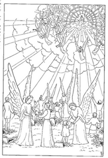 Really The Only Coloring Page For Second Coming That Ive Found So Far Containing Jesus Clouds Angels And Trumpets