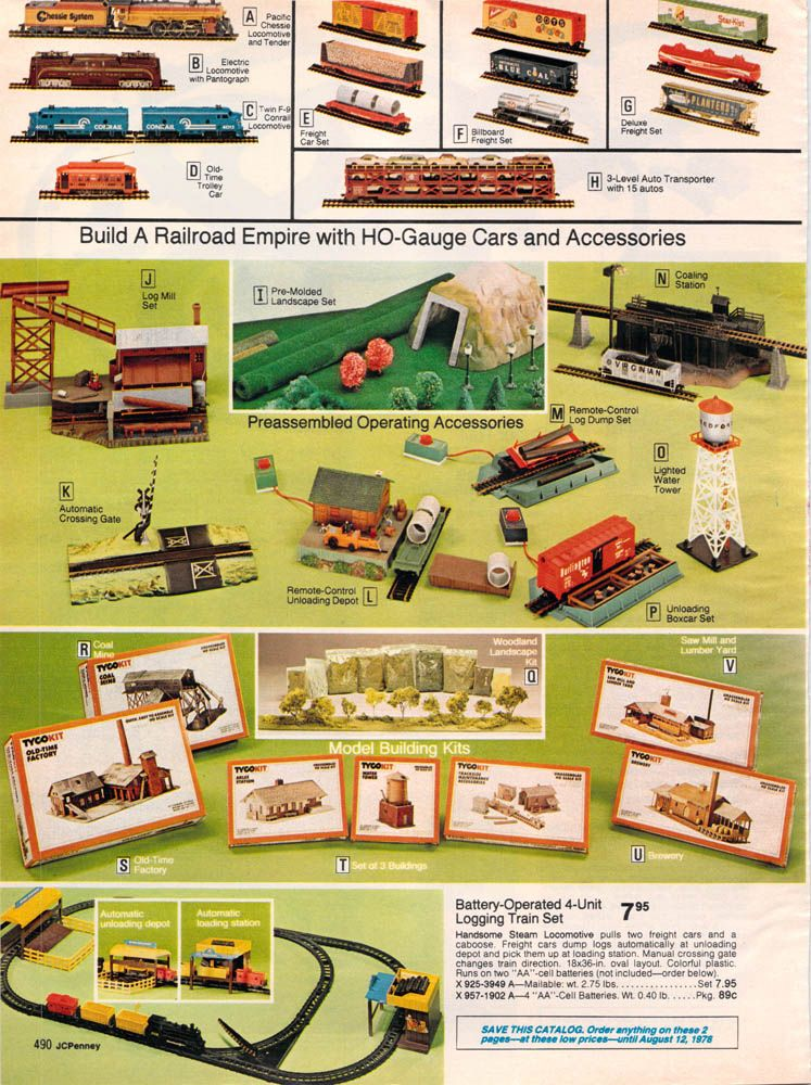 1977 JCPenney Christmas page490   Christmas Trains throughout the