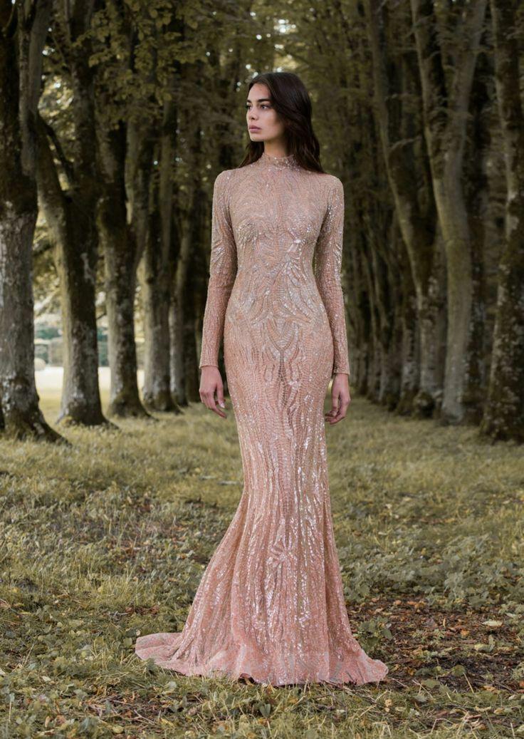 Roségoldenes #Brautkleid mit #Pailletten im #Gatsby Stil ...