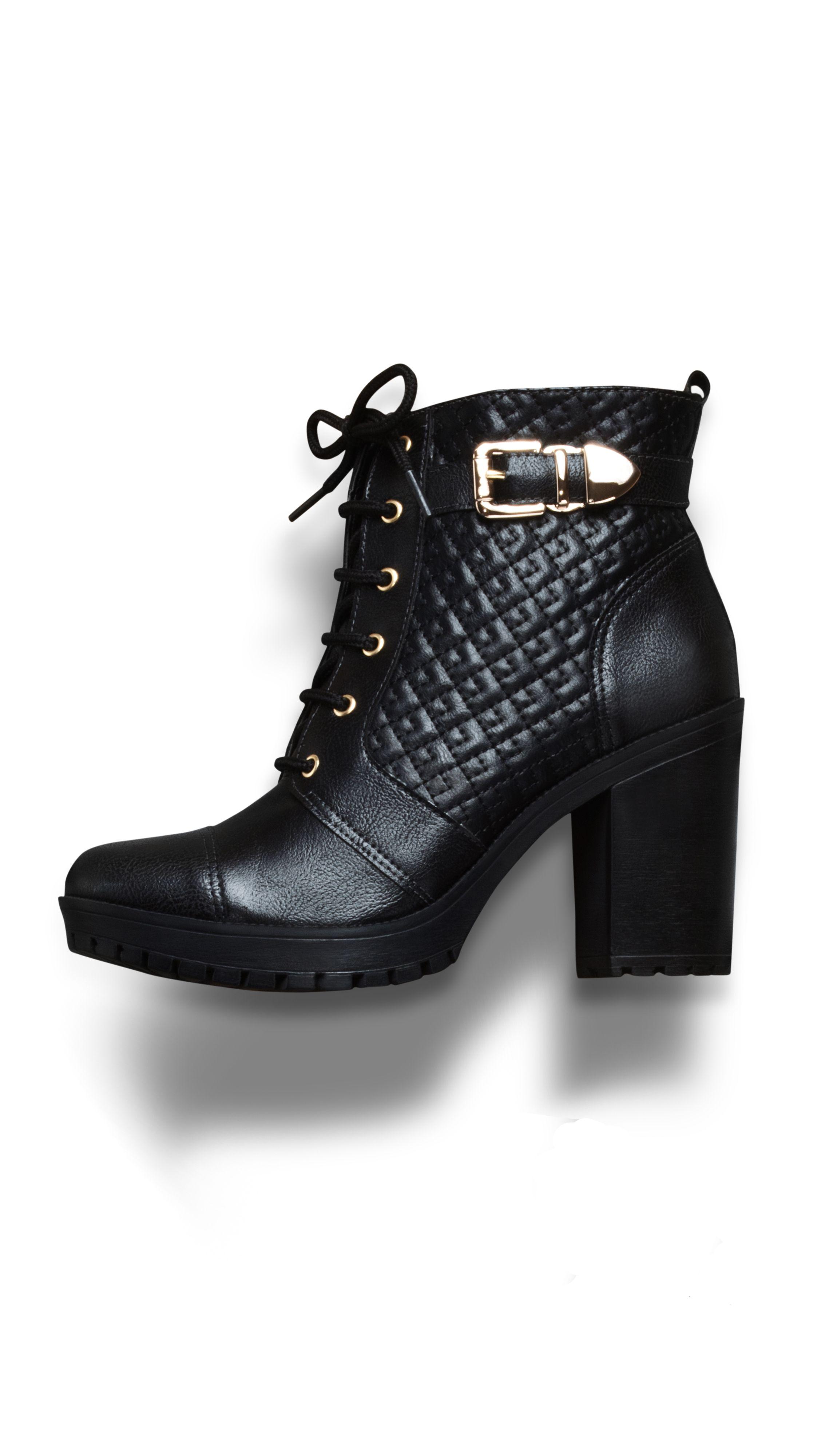 cf713dc21 botas de cano curto - coturno de salto alto - winter heels - black - boots  - Inverno 2015 - Ref. 15-5801