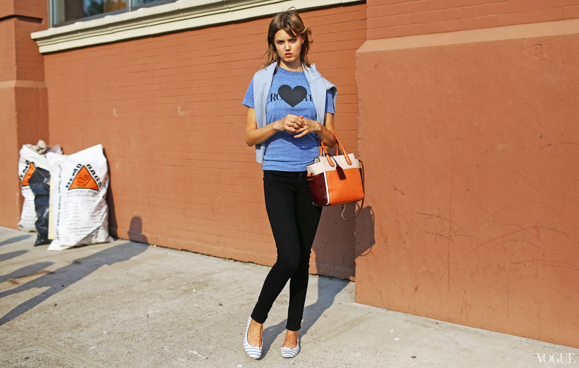 Lindsey Wixson at Marc by Marc Jacobs Reed Krakoff bag