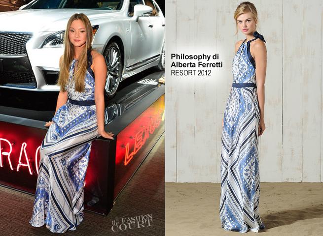 CelebriDIY Inspiration: Devon Aoki's Silk Scarf Dress