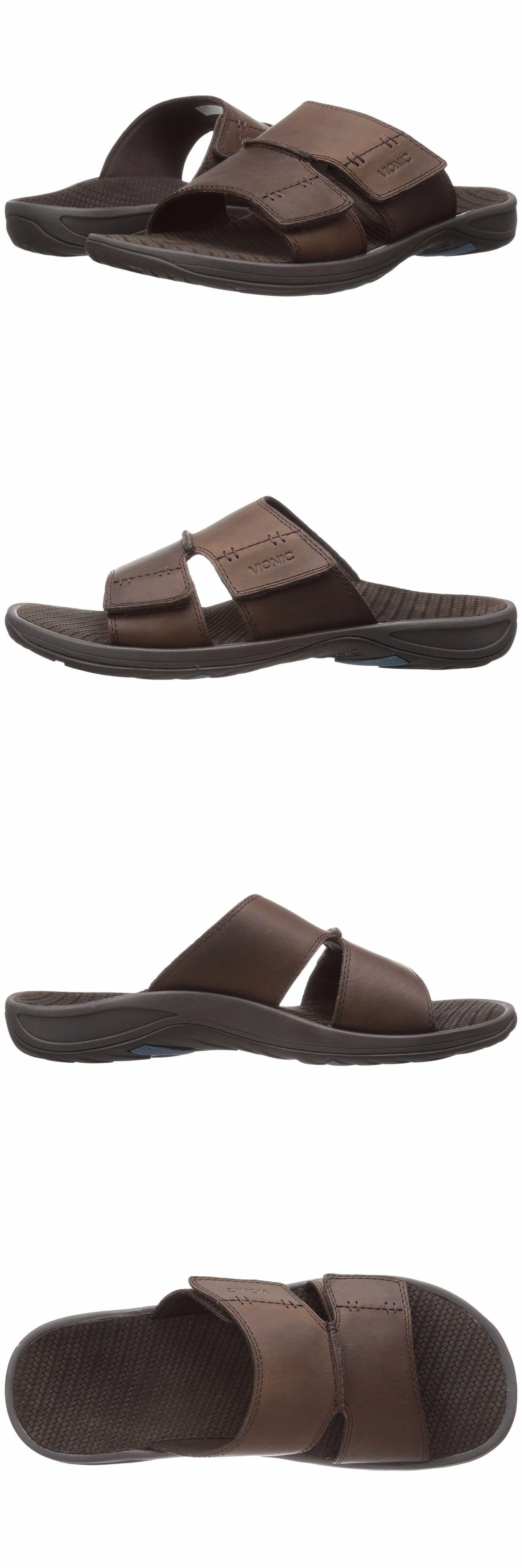 98c7ed3a593e Sandals and Flip Flops 11504  Vionic Men S Jon Orthaheel Slide Sandals