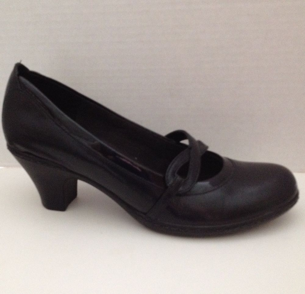 af992fff1 Clarks Shoes Womens Size 6.5 M Black Heels Pumps 6 1 2