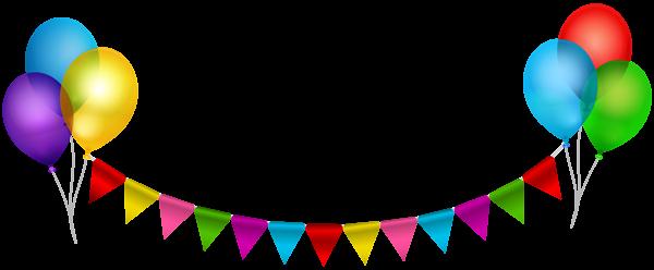 Party Streamer With Balloons Transparent Clip Art Festa De Aniversario Decoracao Feliz Aniversario Decoracao Aniversario