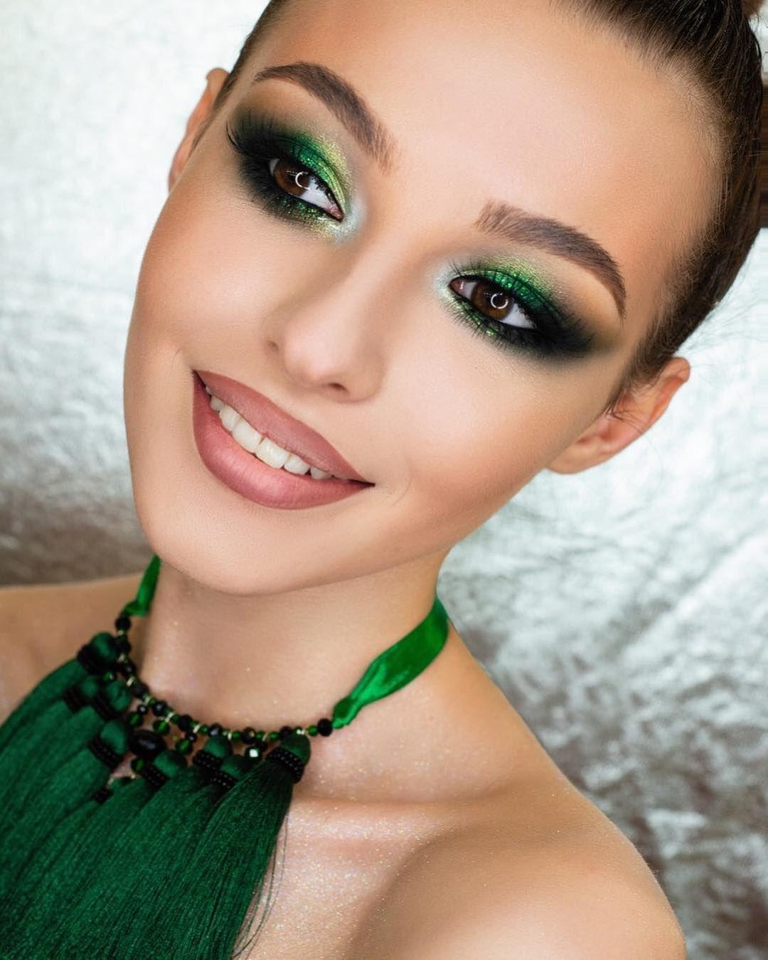 чины весенней зеленый макияж для карих глаз фото свой образ