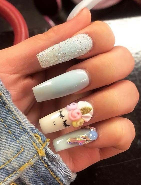 15 Trending Unicorn Nail Art Designs For 2018 Pinterest