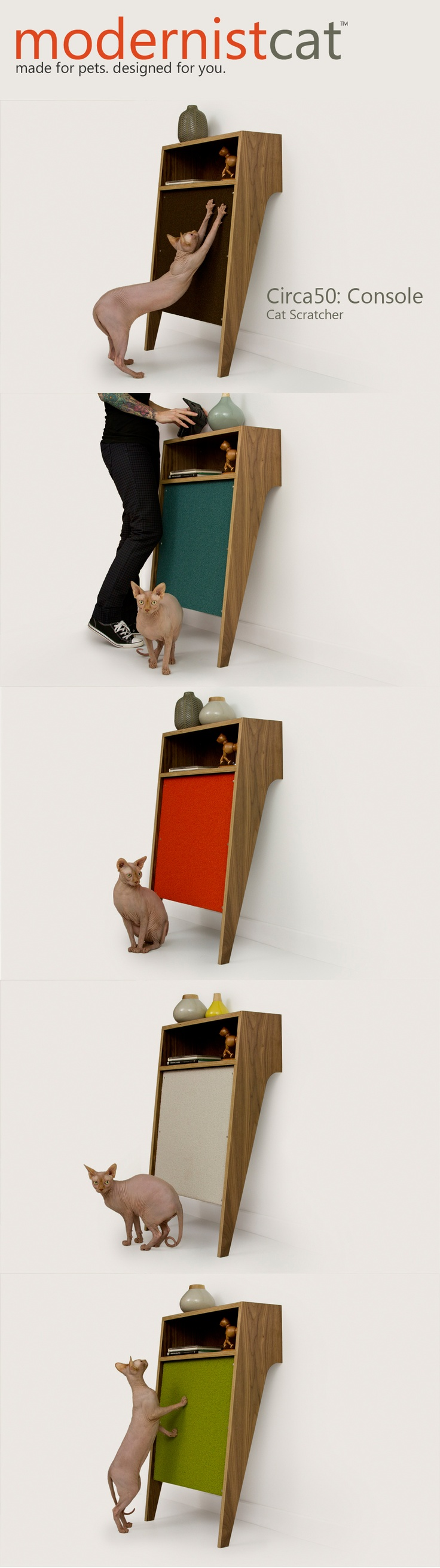 Modernist Cat | Circa50: Console - Cat Scratcher - Available from ...