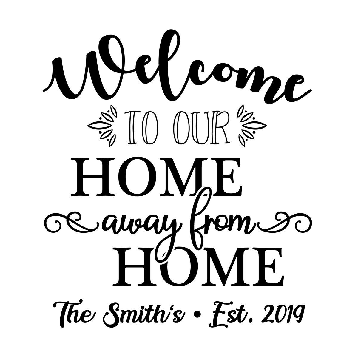 Home Away From Home Custom Rv Camper Decal 11027 With Images