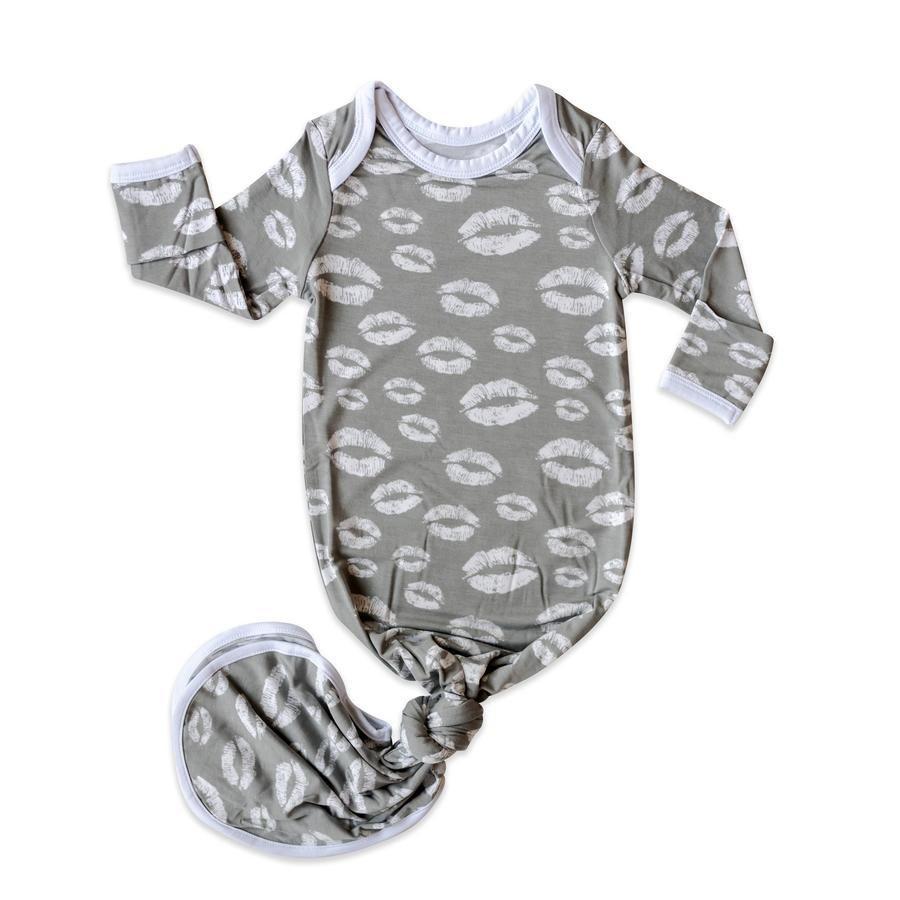 Knotenkleid Neugeboren – Grauer Kuss
