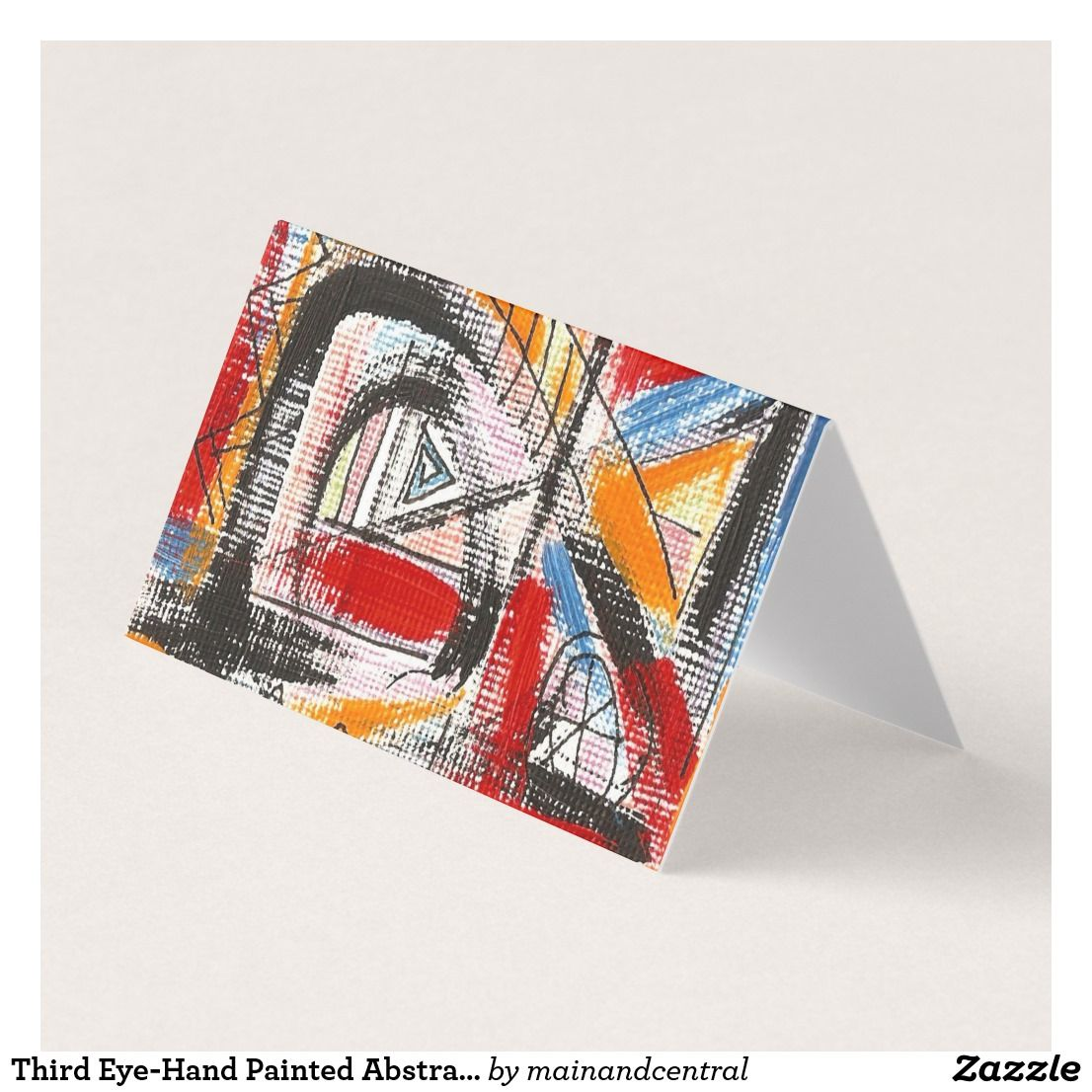 Third Eye-Urban Edgy Business Cards with Hand Painted Abstract Art ...